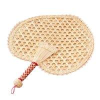Bütün yaprak, el dokuması için mükemmel buğday saman fanı yaz doğal kalp fan, plaj zarif el sanatları 1 adet,