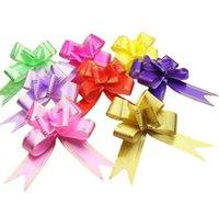 10 sztuk 1.8 * 35 cm Pull Bows Wstążki Kwiat Prezent Pakowanie Motyl Projekt Wedding Party Decoration Pullbows Multi Color Option Boże Narodzenie