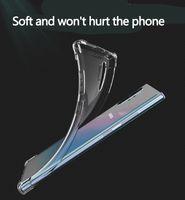 Estuches de teléfono transparentes a prueba de golpes para Samsung S21 S20 Ultra Fe Note20 PLUS A51 A71 5G GEL SOFT GEL TPU Case Capacidad trasera