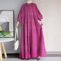 Ethnic Clothing Fashion Women's Muslim Long Skirt Abaya Plus Size Arab Spanish Ramadan Costume Islamic Kaftan Dress
