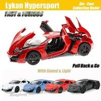 1:32 Échelle Matériel de luxe de luxe de luxe de luxe pour Lykan Hypersport pour la collection Fastfurious Model Jouets Voiture