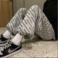 Favour Hip Hop Sweatpants Women Pant Winter Fashion Letter Printing Joggers Loose Casual Warm Plus Velvet Sweat Pants