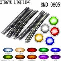 가벼운 구슬 100pcs / lot 5 색 0805 SMD LED DIY 키트 울트라 밝은 빨강 / 녹색 / 파랑 / 노란색 / 흰색 물 명확한 높은 EmitDiode 세트