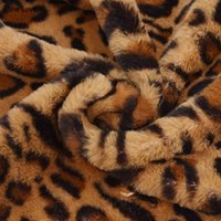 She Love 50x160cm Leopard Printed Faux Fur Fabric Soft Plush Sewing Fabric DIY Patchwork Clothes Accessories