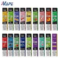 Airis Mega Vape Vape E-Cgarette Kit 1050mAh 6ml 2000 Puffs Flujo de aire Ajustable con cubierta de boquilla 15 FLVS disponible 100% original