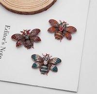 유럽 및 미국 절묘한 복고풍 패션 곤충 드립 브로치 나방 꿀벌 나비 핀 액세서리 여성