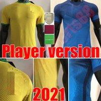 2021 Versão do jogador de futebol Jersey Paqueta Neres Coutinho Camisa de Futebol Firmino Jesus Brasiles Marcelo Pelé Brasil 20 21 Maillote