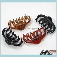 Clips & Barrettes Jewelry Jewelrywomen Girls Clip Tough Plastic Claw Large Size Clamps Clawclips Crab Hairpins Hairclip Hair Aessories Gifts