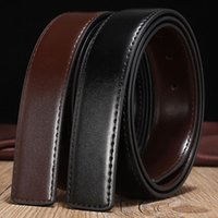 Belts No Buckle Genuine Leather Belt Men 3.3cm Width With Holes Suitable For Pin High Quality Black Coffee G699