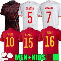 2021 2022 Espanha Jersey Jersey Home Away Espana 21 22 Jogador Versão Asensio Morata Isco Iniesta Rodri Paco Alcacer Saul Xavi Raul Futebol Adulto Homem + Kid Kit Camisas