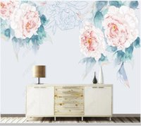 Papel De Parede Modern Peony Flower Decorative Painting 3d Wallpaper Mural,living Room Tv Wall Bedroom Papers Home Decor Wallpapers