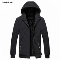Parka uomo con cappuccio inverno jacke solido caldo giacca maschile balck grigio cappotto invernale per uomo impermeabile parka m-4xl cappotto abbigliamento 210518