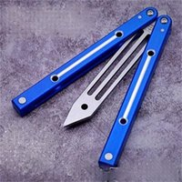 Butterfly Big Fish Folding Knife Aluminum Alloy Handle Non Cutting Edge Hunting Tool Camping Pocket Tools Gifst For Men