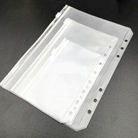 Uygun Temizle PVC A5 A6 A7 Binder Cepler Clear 6 Yüzük Dizüstü Bilgisayar Dosyaları için Fermuar Klasörleri ile Temizle