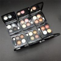 Professional Brand Makeup Eye Shadow 4 Цвета Матовая палитра теней для теней для теней с кистью