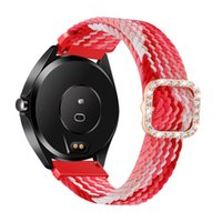 Watch Bands 20mm 22mm Braided Solo Loop Band For Huawei GT 2 Pro 2e Strap Samsung Galaxy 3 45mm Active Gear S3 Bracelet