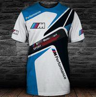 K8 T Shirts Summer Hommes 3D Imprimerie numérique BMW M Puissance Motos Performance Court Mouw Sport Extreme Sport Casual