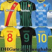 RC FOfana Lens Futbol Formaları 2021 22 Üçüncü Ganago Sotoca Kakuta Maillots De Ayak Clauss Medina Banza Dooure Farinez Eve Uzaktan Futbol Gömlek Kiti