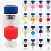 Nuevo titular de la taza de silicona anti-escaldado multicolores Tazas de agua de vidrio Tazas de agua de vidrio antideslizantes Aislamiento antideslizante EWF6545