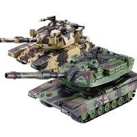 132 RC Savaş Tankı Paletli Uzaktan Kumanda Oyuncaklar Askeri Araba Araba Modeli Yumuşak Mermi Başlatabilir Büyük RC Tankı