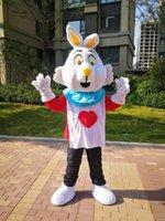 Bunny Rabbit Mascotte Costume Cartoon Caractère Housseen Mascottes Adulte Taille Sans navire gratuit