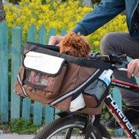 En 1 mascota bolsa de bicicleta bolsa de hombro cachorro perro gato pequeño animal viaje asiento de bicicleta para senderismo ciclismo Canasta Accesorios Cubiertas de automóviles