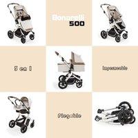 Carrinhos # Bonarelli 500 Carrinho de bebê Carrinhos de carrinho 3 em 1 carrinhos de luz até 25 kg Cadeira de passeio dobrável