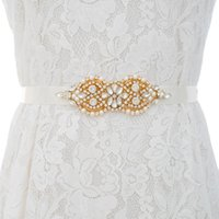Belts JLZXSY Handmade Flower Crystal Bride Sash Rose Gold Silver Rhinestone Applique Wedding Dress