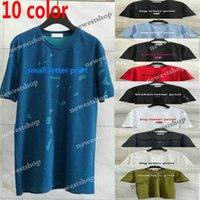 2021 Europa de luxo Paris grandes buracos quebrados camisetas Tecido de duas camadas Tshirt Mulheres Mulheres Pequenas impressão T-shirt de alta qualidade t-shirts