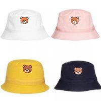 Çocuklar Ayı Şapka Bebek Sevimli Şapka Ince Kız Balıkçı Erkekler Sunhat Dört Renkli Bahar Yaz Boy Güneş Kremi Caps Çocuk Eğlence