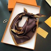 100% Mulberry Seda Versátil Pequena Toalha Quadrada Redução de Redução de Temperamento Elegante Vestido de Lenço Elegante com Soft e Confortável Skin Size50 * 50