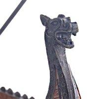 Dragon Bateau Encens Stick Stick Burner Main Sculpté Sculpture Censeur Ornements Retro Encense Traditionnel Design Navire Encens Burner 331 R2