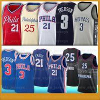 IVERPON 21 Joel 25 Ben Embiid 3 ألين سيمونز إيفرسون 12 توبياس هاريس الرجال NCAA كرة السلة الفانيلة