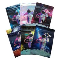 packaging mylar bags storage plastic packing bag seal pocket resealable zipper keep fresh dry flower astronaut pouch spaceflight
