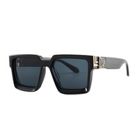 النظارات الشمسية مليون الرجال الفاخرة خمر أزياء المرأة تصميم الزجاج ظلال نظارات الشمس المرايا