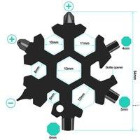 18 في 1 مخيم مفتاح حلقة جيب أداة متعددة الوظائف تنزه كيرينغ متعدد المراحل البقاء على قيد الحياة الفتاحات في الهواء الطلق ندفة الثلج متعدد سبان هيكس وجع DWF6611