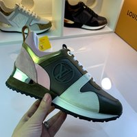 2021 Yeni Lüks Deri Rahat Ayakkabılar Kaçmak Kadın Tasarımcı Sneakers Erkekler Ayakkabı Hakiki Deriler Moda Karışık Renk Orijinal Kutusu 35-44