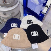 Knit Bucket Hat Cap for Man Woman Fashion Warm Hats Design High Quality 4 Color