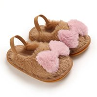 ولأولاد الطفل الجوارب الأطفال طفل الرضع أطفال بنات الفتيان فروي القوس أحذية عدم الانزلاق الأولى مشوا 2021