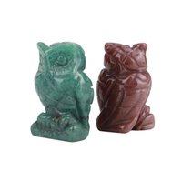 크리스탈 올빼미 예술과 공예품 동상 장식품 바탕 화면 거실 중국 스타일 장식 1.5 인치 B3