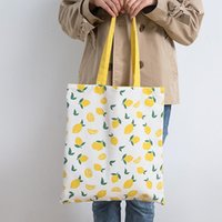 Storage Bags Wheat Fabric Double-Sided Dual-Use Hand Bag Cotton And Linen Pocket Handbag Shopping Grocery