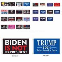 DHL Ship! 86 stilar 2024 Trump Flag Biden är inte min president 90 * 150cm USA: s presidentval flagga Trump Flaggor Banners FJ27