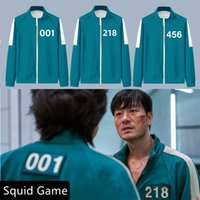 Halloween Squid Game Costume Cosplay Coat Sportswear Jacket 456 Digital Sweater 001 Korean Drama Clothes