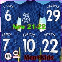 CFC CHELSEA 21 22 home blue T.SILVA WERNER PULISIC KANTE Camisas de futebol masculinas + Conjuntos infantis MOUNT CHILWELL ZIYECH 2022 Kits de futebol camisas de futebol