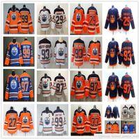 2021 Noticias Edmonton Oilers Hockey 97 McDavid Jersey 29 Leon Draisait 99 Wayne Gretzky 93 Ryan Nugent-Hopkins 27 Milan Lucic Cam Talbot Jerseys