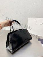 Lady Formal Office Worker Totes Balck Handbags For Women Patent Leather Hobos Armpit Shoulder Bag Pink Grey Summer Luxury Designer Ladies Big Black Handbag