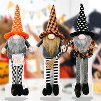 Party Supplies Halloween Decorations Gnomes Doll Plush Handmade Tomte Swedish Long-Legged Dwarf Table Ornaments Kids Gifts HHA7329