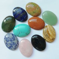 Natural crystal 30x40mm Opal Rose Quartz Tiger's Eye stone patch face for natural stone necklace ring earrrings jewelry accessory