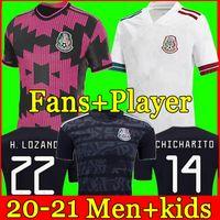 México Jersey Jersey Home Copa América Ventiladores Versão Jogador Camiseta 20 21 22 Chicharito Lozano dos Santos 2021 Camisas de Futebol Homens + Kids Kit Sets uniformes