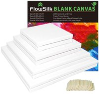 Frames White Blank Cotton Stretched Canvas Artist Painting - 11x14 Inch   7 Pack 5 8 Profile Triple Primed For Oil & Acr